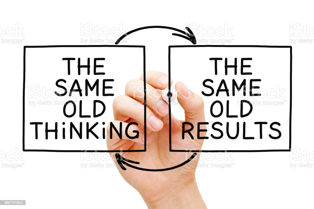 The Same Old Thinking The Same Old Results royalty-free stock photo