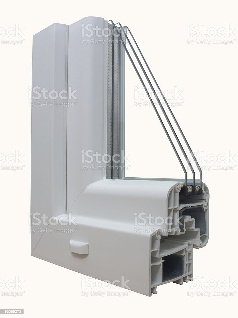 The sample 1 of PVC  window royalty-free stock photo