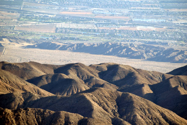 The San Andreas Fault Down Below stock photo
