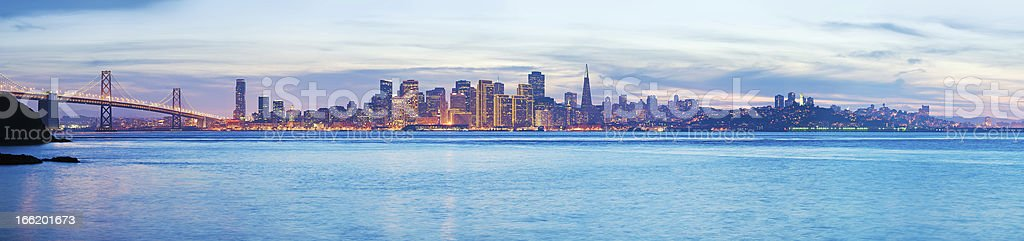 The San Francisco Skyline royalty-free stock photo
