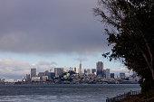San Francisco, United States - May, 15 2016: View of San Francisco bay and city, skyline