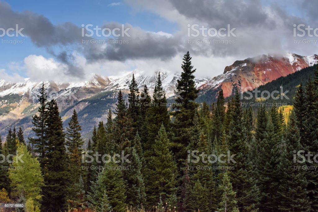The San Juan Mountains in Colorado stock photo