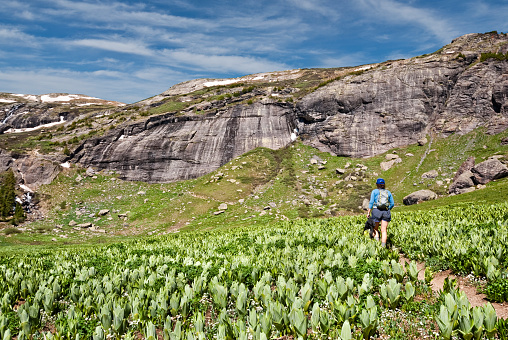 Hiking to Upper Ice Lakes Basin