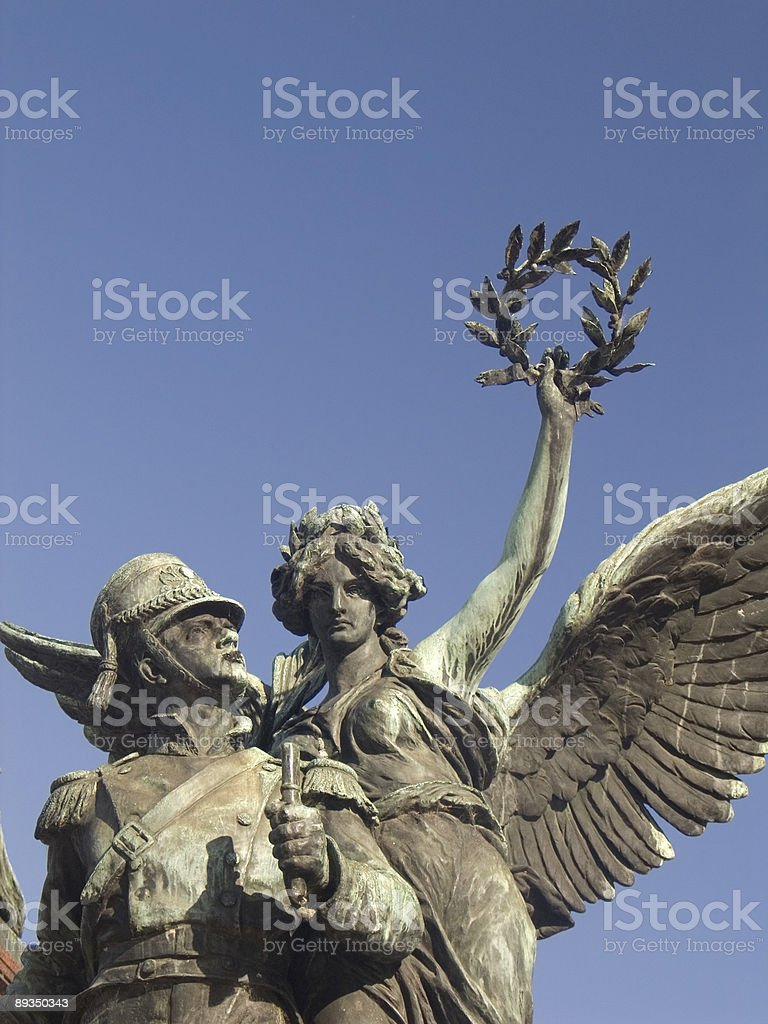 The San Martin Monument in Buenos Aires, Argentina. Copy Space royalty-free stock photo