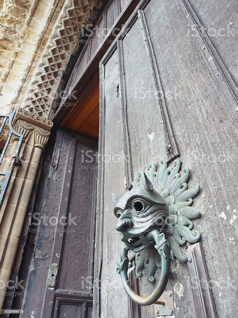 The Sanctuary Knocker, Durham Cathedral royalty-free stock photo
