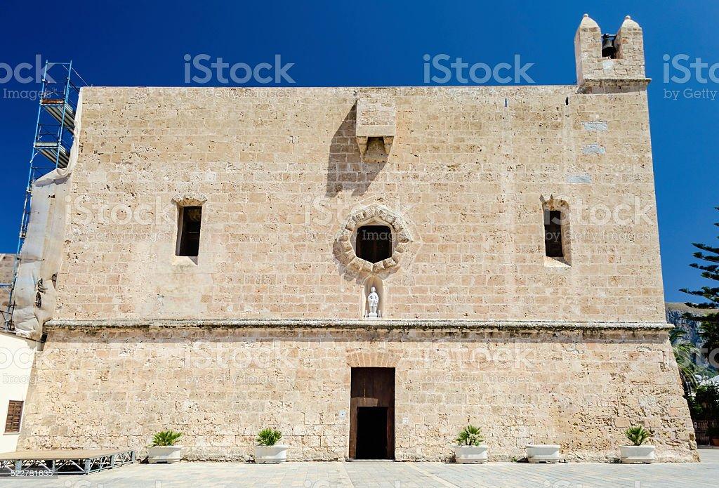 O The Sanctuary, medieval bulding em San Vito Lo Capo, Sicília - foto de acervo