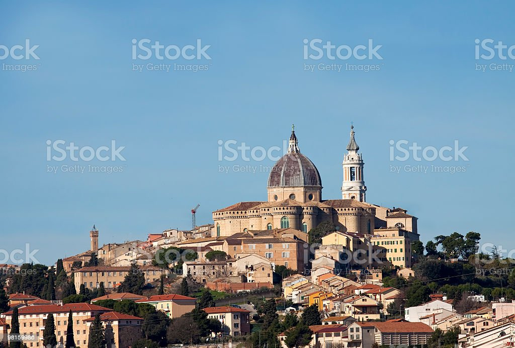 The sanctuary of Our Lady, Loreto, Italy royalty-free stock photo