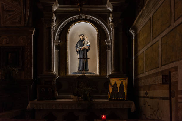 The Sanctuary of the Martyrs Vittore and Corona The Sanctuary of the Martyrs Vittore and Corona st. anthony of padua stock pictures, royalty-free photos & images