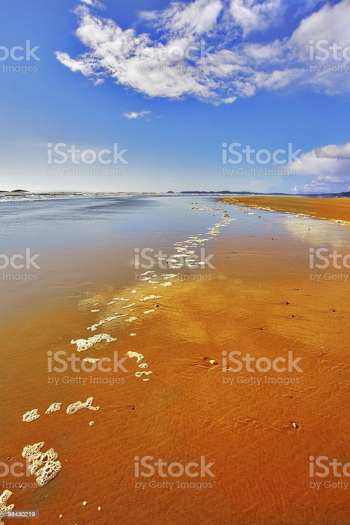 The  sand during outflow royalty-free stock photo