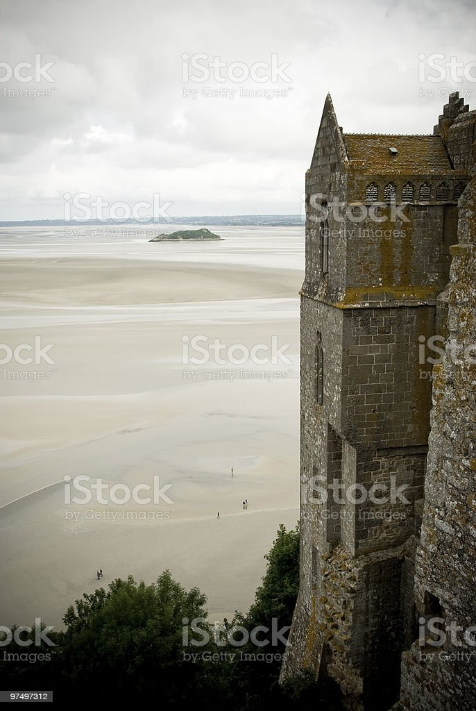 The sand in Mont Saint Michel royalty-free stock photo