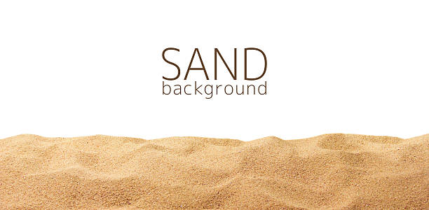 The sand scattering isolated on white background The sand scattering isolated on white background sand stock pictures, royalty-free photos & images