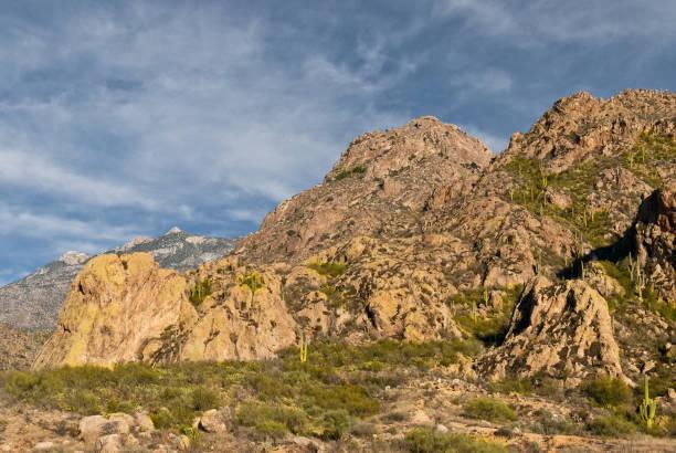 The Santa Catalina Mountains stock photo
