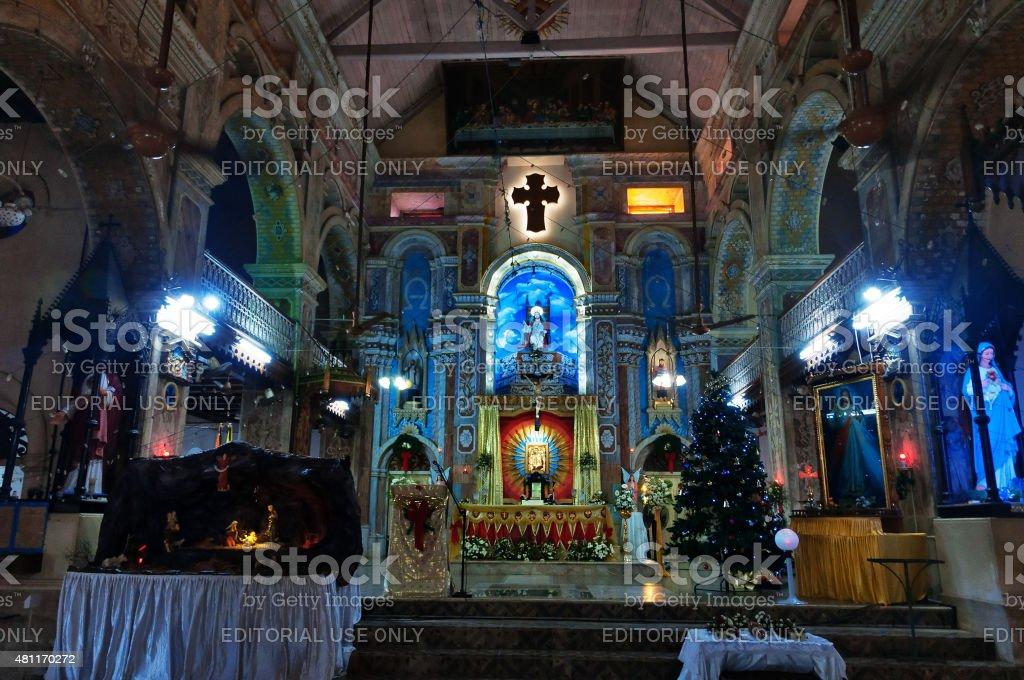 The Santa Cruz Cathedral Basilica at Fort Kochi stock photo