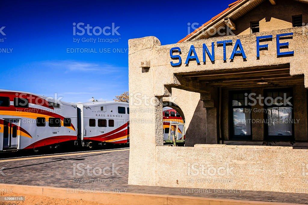The Santa Fe Depot Station terminus in New Mexico stock photo