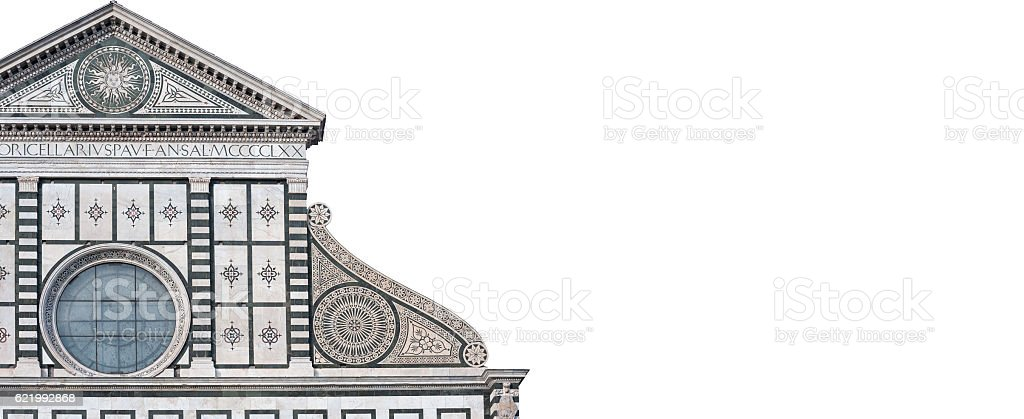 The Santa Maria Novella facade stock photo