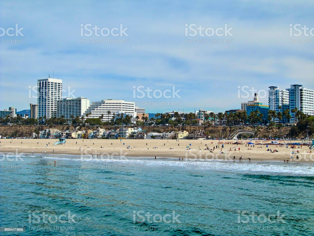 The Santa Monica beah, seaside view stock photo