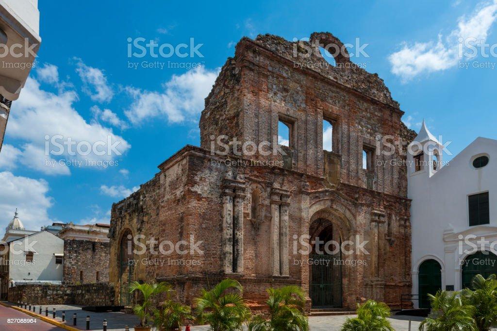The Santo Domingo Convent in Casco Viejo, Panama City stock photo