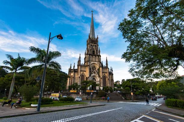 The Sao Pedro de Alcantara Cathedral stock photo