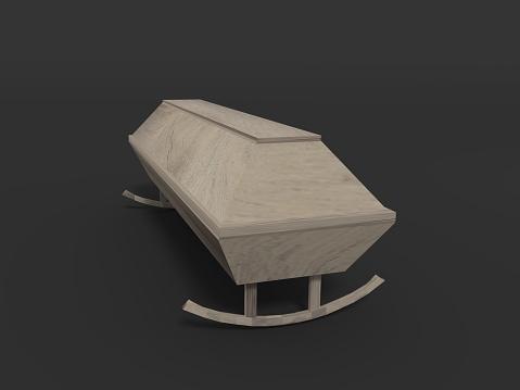 The sarcastic coffin