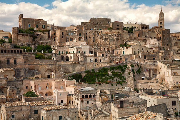 The Sassi, Matera, Italy The Ancient town of  Matera in southern Italy. matera italy stock pictures, royalty-free photos & images