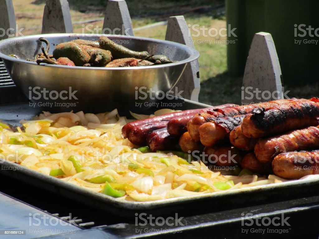 The Sausage Grill stock photo