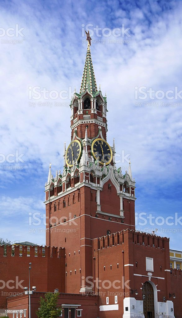 The Saviour Tower. Kremlin in  Moscow. royalty-free stock photo