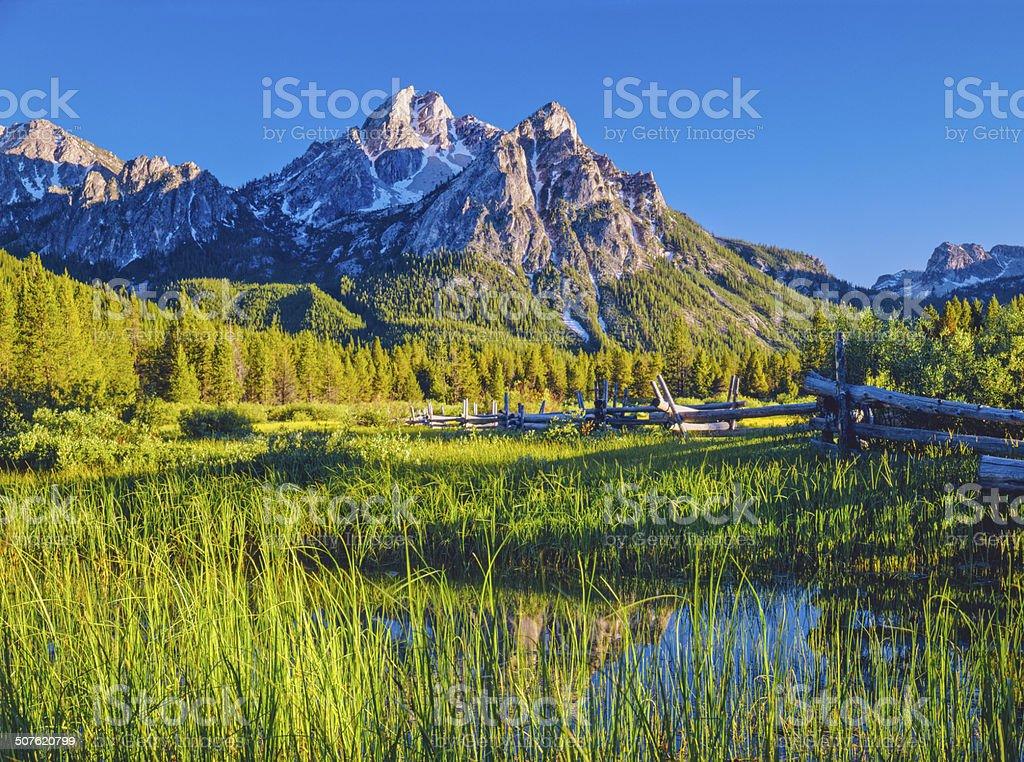 The Sawtooth Mountain Range, Stanley Idaho (P) stock photo