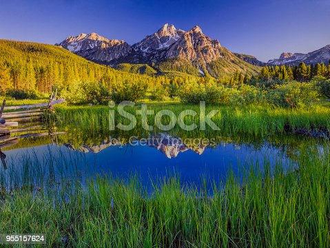 tranquil getaway; a breathe of fresh air; away from it all; springtime travel adventure, Sawtooth National Forest