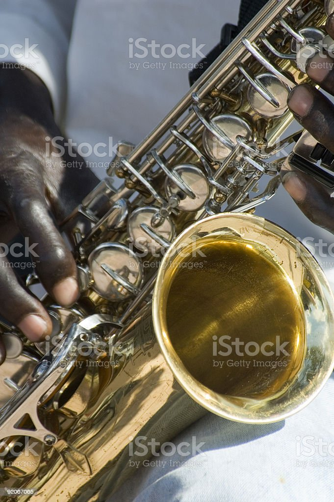 the sax man royalty-free stock photo