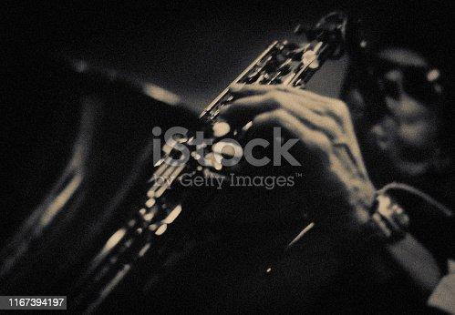 Fine Art, Portrait, Saxophone, Player, Jazz, Music,