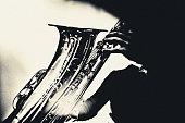 Art, Portrait, Saxophone, Player, Jazz, Music, Berlin, Jazz club,