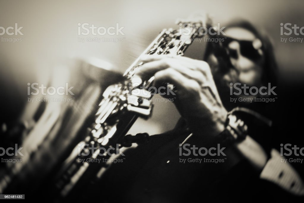 The Saxophone Player stock photo