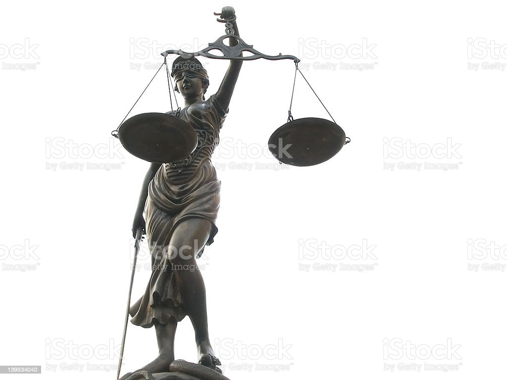 The Scales of Justice and Law royalty-free stock photo