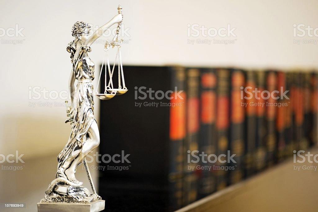 Die Waage der Gerechtigkeit - Lizenzfrei Anwalt Stock-Foto
