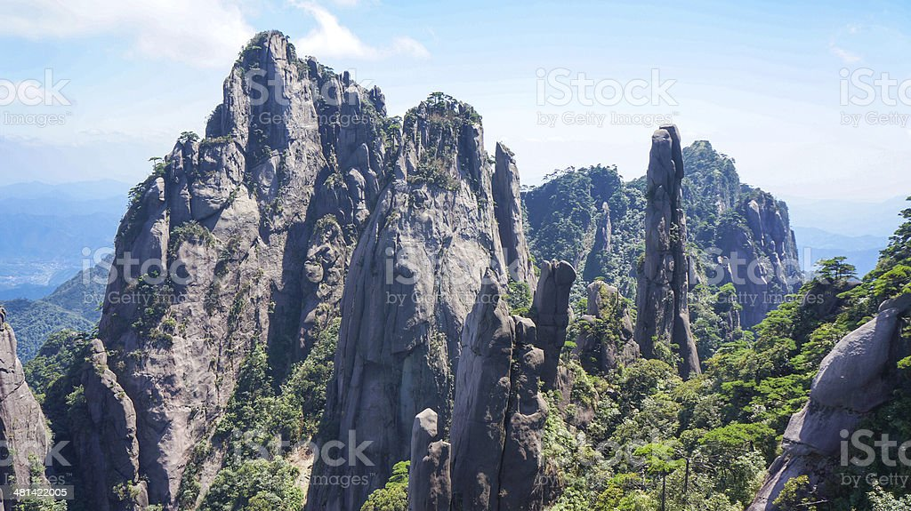 The scenery of Mount Sanqingshan stock photo