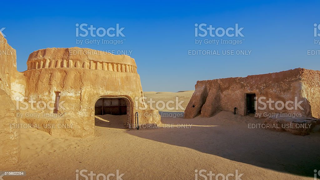 The scenery of the film Star Wars stock photo