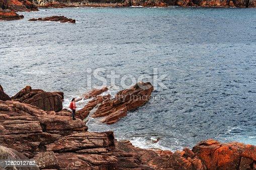 istock The scenery of Wineglass Bay and sleepy Bay in Freycinet National Park, Freycinet Peninsula Tasmania, Australia 1282012782