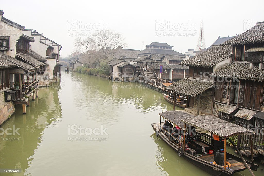 The scenery Wuzhen, Chinese ancient town royalty-free stock photo