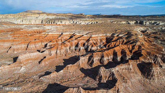Aerial view of canyons nearby Kanab, Utah, USA.