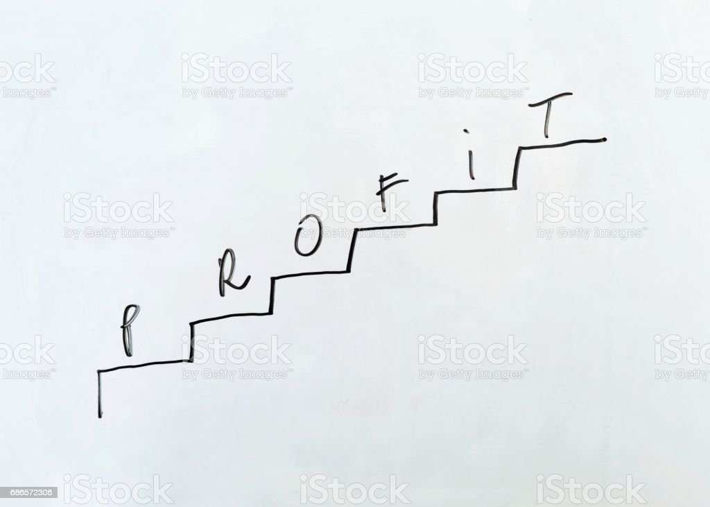 The schedule on a white board in the form of a ladder. royalty-free stock photo