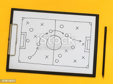 istock The scheme of the game. Strategy. Tactics. On the chalkboard 979018024