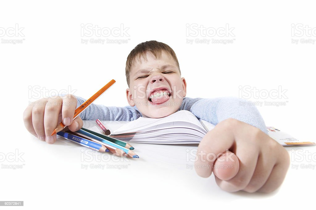 The schoolboy - idler royalty-free stock photo