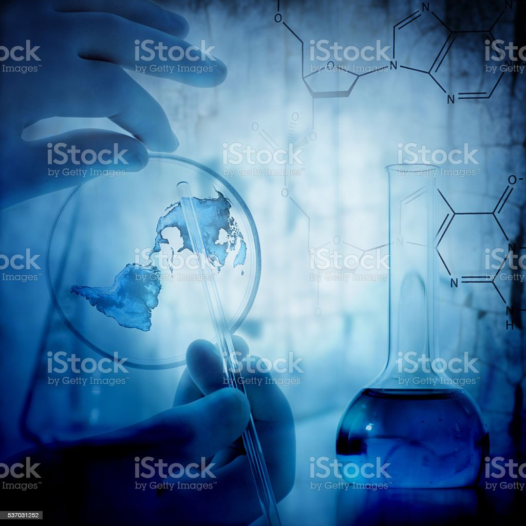 The science background stock photo
