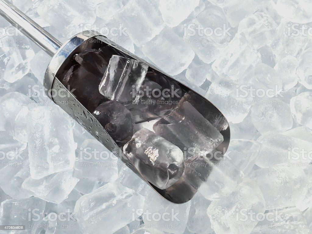the scoop and ice stock photo