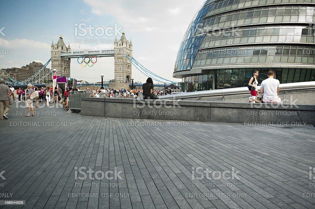 The Scoop, City Hall, Tower Bridge during London Olympics 2012. stock photo