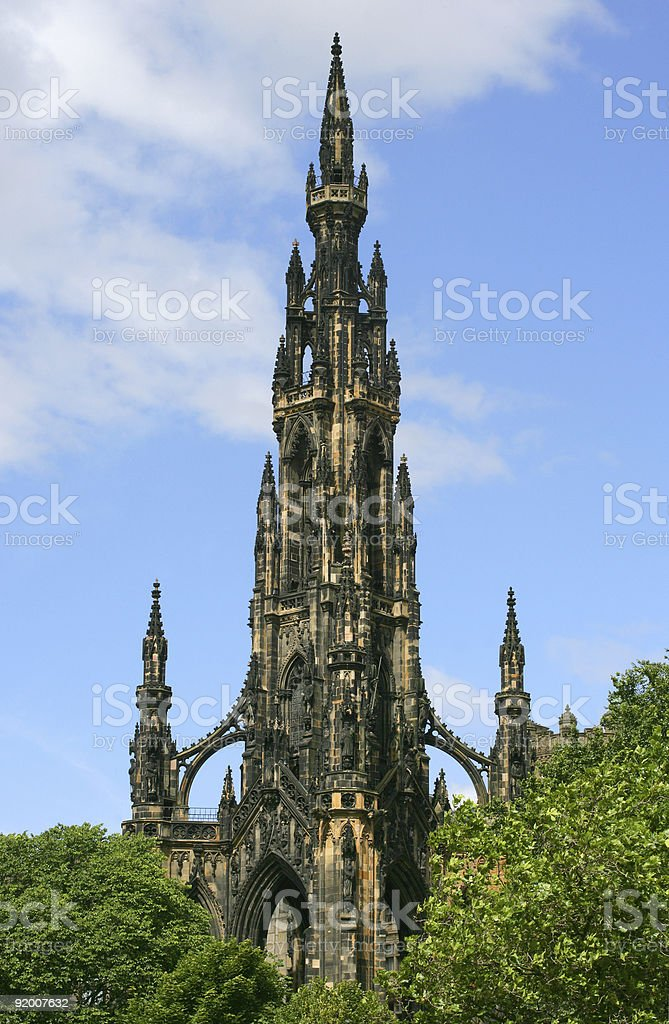 The Scott Monument royalty-free stock photo