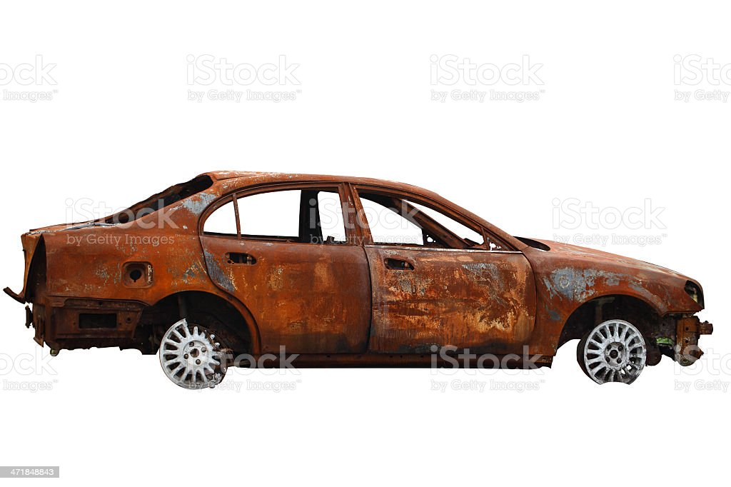 The scrap cars stock photo