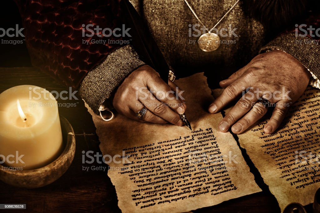 The Scribe stock photo