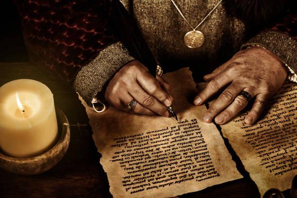 scribe - ortaçağ stok fotoğraflar ve resimler