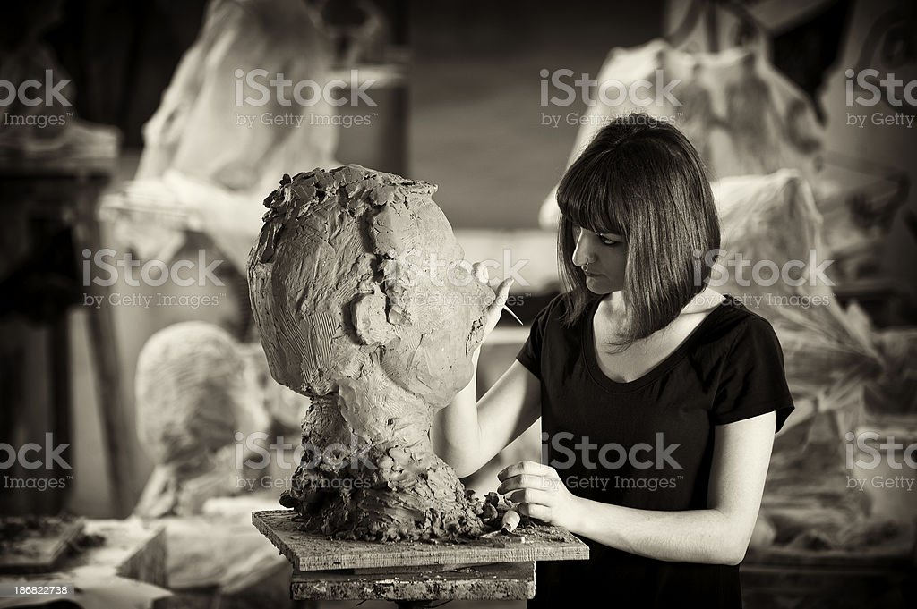 The Sculptor royalty-free stock photo